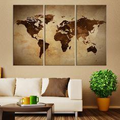 Large wall art ink splashed world map canvas print mygreatcanvas large wall art sephia world map canvas print mygreatcanvas extra large wall gumiabroncs Images