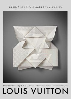 Louis Vuitton – #Invitation #Origami designed and produces by Happy Centro