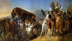 Жан-Батист Дебре - Наполеон отдает честь раненым воинам, 1806