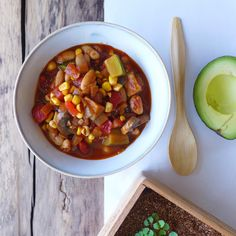 Chilled Summer Vegetable Chili, Vegan // inmybowl.com