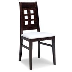 Scaunul Catia 490 B cu tapiterie pe sezut este ideal pentru salile de restaurante, cafenele sau terase datorita durabilitatii sale si confortului sporit pe care-l asigura. Este un model clasic cu influente contemporane, design-ul fiind unul simplu, dar de efect. Caracteristici:  cadru din lemn masiv; sezut tapitat; rezistent la trafic intens; posibilitatea de a realiza diverse finisaje; scheletul de lemn masiv poate fi finisat in diferite culori, culorile standard fiind wenge, nuc, cires…