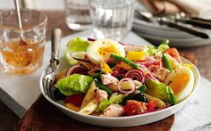 Slimming World gives the classic tuna niçoise recipe an update with penne pasta and a delicious and low-fat dressing. Tuna Recipes, Salad Recipes, Cooking Recipes, Healthy Recipes, Recipies, Simple Recipes, Drink Recipes, Pasta Recipes, Snack Recipes