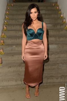 Kim Kardashian Turns Out for ACRIA Benefit in New York  Proof once again that money and celebrity don't equal good taste in clothing or fashion