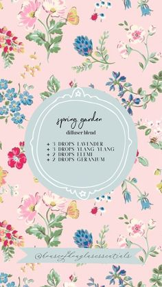 Discover recipes, home ideas, style inspiration and other ideas to try. Essential Oils Guide, Essential Oil Uses, Young Living Essential Oils, Palmarosa Essential Oil, Essential Oil Diffuser Blends, Diffuser Recipes, Spring Garden, Design, Spring Recipes