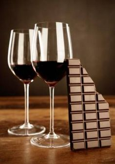 red wine and chocolate, what goes better together?