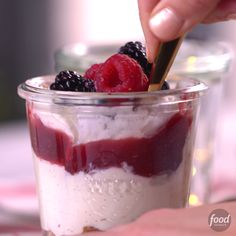 Recipe of the Day: Summer Cheesecake Mousse Hey, cheesecake lovers, your favorite sweet and tangy dessert just got scoopable. Layer this creamy mousse with crushed graham crackers and berry jam in glass jars for the most-satisfying no-bake treat. Summer Cheesecake, Cheesecake Mousse Recipe, Mousse Dessert, No Bake Desserts, Delicious Desserts, Dessert Recipes, Yummy Food, Baking Desserts, Cake Recipes