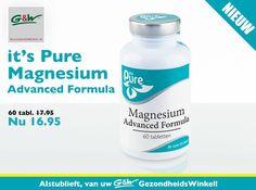 G&W #Gezondheidswinkel NIEUW it's Pure Magnesium Advanced Formula   Voor een goede spierwerking! Deze veelzijdige hooggedoseerde tabletten bevatten een combinatie van 3 verschillende soorten magnesium met een uitstekende opneembaarheid.   • Draagt bij tot een normale werking van de spieren. • Draagt bij tot de normale werking van het zenuwstelsel.  kom langs bij uw G&W GezondheidsWinkel #Enschede #Haverstraatpassage