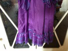 detail. #Underskirt purple taffeta long dress