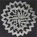 ric-rac and teneriffe lace doily
