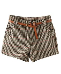 Vintage Houndstooth Mid-rise #Shorts