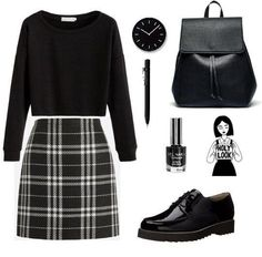 Have the sweater and the backpack Teen Fashion Outfits, Kpop Outfits, Korean Outfits, Grunge Outfits, Look Fashion, Stylish Outfits, Korean Fashion, Fall Outfits, Vestidos Fashion