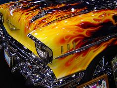 1957 Chevy Flame Job   Flame paint job on a 1957 Chevy. Take…   Flickr