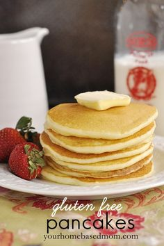 gluten free pancakes - really good, but couldn't figure out how to full cook the middle.