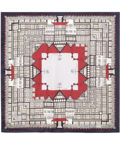 buildings on clothings.  liberty of london scarf  £95.00