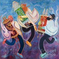 Simchat Torah - Jewish art/holiday! Beautiful illustration!