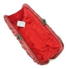 NEW ! Red rattan clutch, bridesmaid purse, rattan clutch, wicker purse, red clutch, red handmade clutch, handwoven clutch