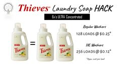 Thieves Laundry Soap is a super powerful, ULTRA CONCENTRATED plant based formula, infused with essential oils. The formula is also unique for what it DOESN'T include. It won't leave behind any toxic or harsh chemical residue because. Essential Oils For Laundry, Thieves Essential Oil, Young Living Essential Oils, Essential Oil Blends, Diy Laundry Detergent, Chemical Free Cleaning, Natural Cleaning Products, Household Products, Young Living Oils