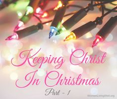"""It is more blessed to give than to receive."" Acts 20:35 Here's lots of creative ways to help your family ~ Keep Christ in Christmas!"