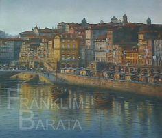 """Ribeira Porto"" - U005 Medium: oils  Subject: cityscape  Style: realism  Size: 80 cm x 90 cm  Price: €100  phone: (+351)962639443  email: franklim.barata@gmail.com"