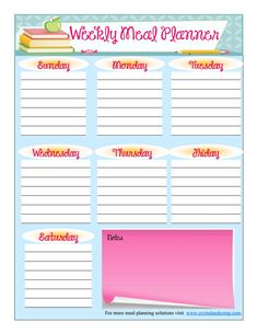 How is meal planning going? Are your meals in order for this coming week? Do you know what you're feeding your family? Here is a free printable meal planner  that will help you map out your week. T...