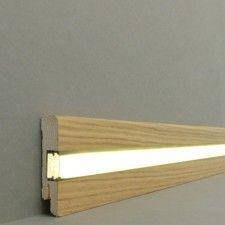 "LED Sockelleiste /""Busca/"" 12 x 58 mm Folienummantelt weiß indirekte Beleuchtung"