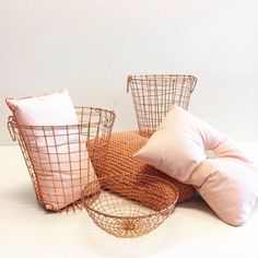 Copper And Pink, My Room, Living Room Designs, Throw Pillows, Deco, Rose, Interior, Color, Instagram