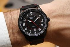 Top 10 Watches Of Baselworld 2015.  Victorinox Swiss Army Airboss Mechanical Black Edition