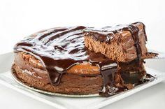 Belgian-Chocolate Cheesecake is made with semi-sweet chocolate. Photo: Michael Paulsen, Staff / © 2013 Houston Chronicle