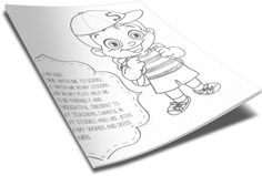 Back To School Coloring Page - Student (Boy) http://www.childrens-ministry-deals.com/products/back-to-school-coloring-page-student-boy