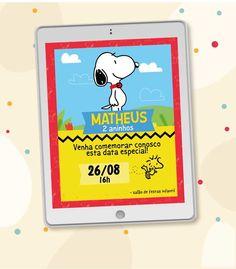 Convite Digital Snoopy