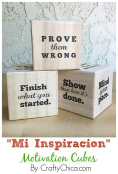 In honor of #McFarlandUSA Blu-ray and DVD release, I made these Motivation Cubes! Quotes to keep you moving! #sp