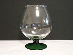 Vintage Empoli Glass Brandy Snifter Crystal Wine by NostalgicFair