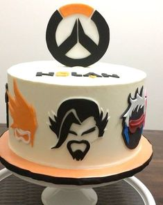 """Caked Goods Bakery (@cakedgoods) on Instagram: """"Overwatch cake for my newphew. I will have to admit when he told me I had no idea what it was. I…"""""""