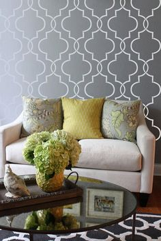 Wall Stencil Morrocan Lattice Trellis Pattern Wall Room Decor Made by OMG Stencils Home Improvements Color Paintings 0207