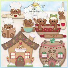 Ginger Bakers 1 - NE Kristi W. Designs Clip Art : Digi Web Studio, Clip Art, Printable Crafts & Digital Scrapbooking!