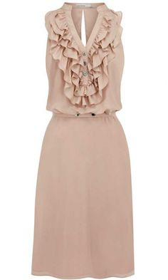 Karen Millen Silk Ruffle Dress, £190