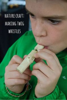 How to make your own wooden whistle using twigs - a fun nature craft that's perfect for all seasons!