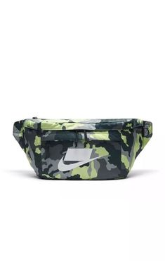 86b051956c55 Nike Sportswear Tech Printed Hip Pack Waist Bag Sport Gym Green Camo  BA5795-372