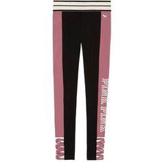 Victoria's Secret PINK Cotton Strappy Legging Soft Begonia (Small) at... ($74) ❤ liked on Polyvore featuring victoria's secret