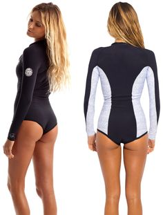 Shop Wetsuit Wearhouse for these 1mm Women's Rip Curl G-BOMB L/S Booty Springsuits! Free shipping and best price guarantee!