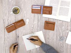Men's bifold wallets Caramel - LOST & FOUND accessoires Lost & Found, Men's Accessories, Caramel, Wallets, Objects, Accessories, Sticky Toffee, Candy, Men Accessories