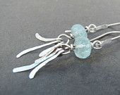 Aquamarine and Silver Dangle Earrings
