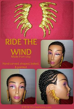 RIDE THE WIND  100 Handmade Clay Ear Wings  by EYESEYEcreations, $27.00 Clay Earrings, People Around The World, Artisan, Wings, Craftsman, Ali