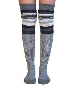 4402ac18d88 Lemon Legwear Flannel Sophie Wrap Over-the-Knee Socks. Thigh High  SocksThigh HighsKnee ...