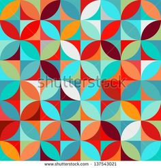 seamless abstract disco pattern - stock vector