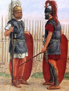 """Praetorian guardsmen, on campaign; early 1st C. AD"", Richard Hook"