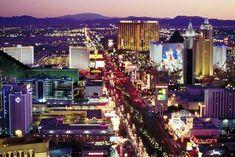 The Las Vegas Strip at night. The city remains one of the America's top honeymoon destinations. #Vegas #honeymoon
