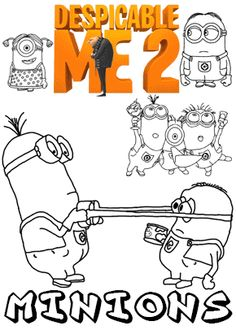 SPONGEBOB COLORING PAGES See More Print Free Colouring Sheets With Minions From Despicable Me 2