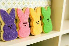 Peeps inspired sugar cookies