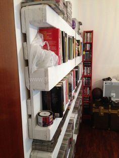 The easiest pallet bookshelves | 1001 Pallets